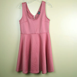 Rue21 Women's Pink Sleeveless Pleated Bottom Dress